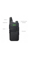 WLN KD-C1 Walkie 16 Channel Talkie Ham Radio UHF 400-470 MHz MINI-handheld Transceiver